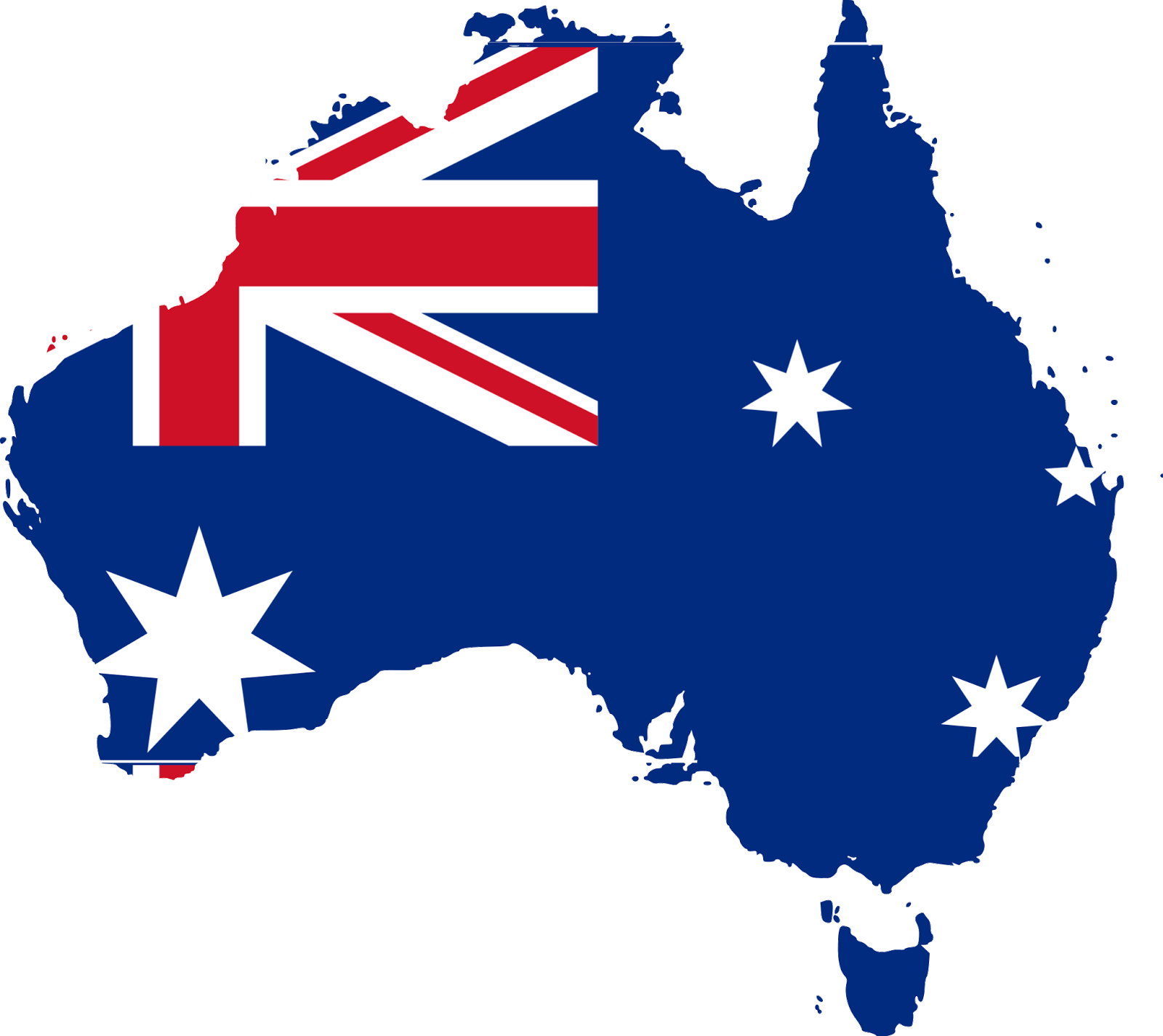 map of australia. english test for citizenship