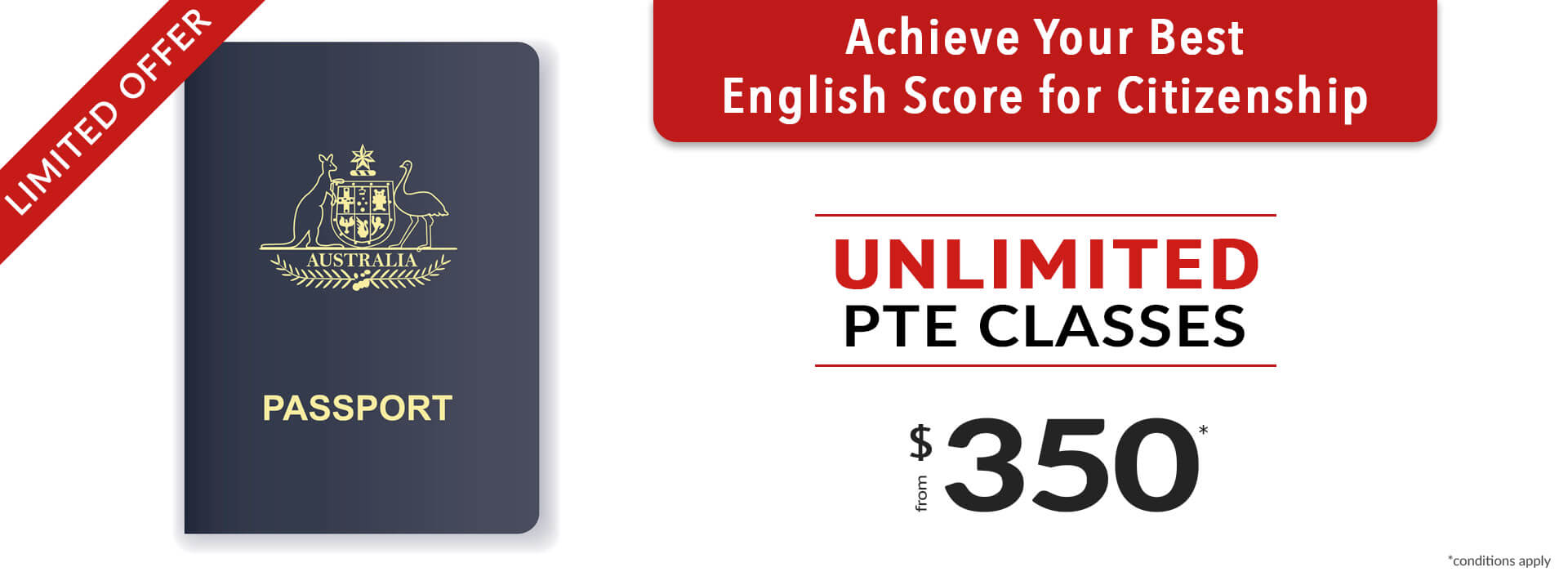 english test for citizenship. unlimited pte course from $350. sydney pte institute