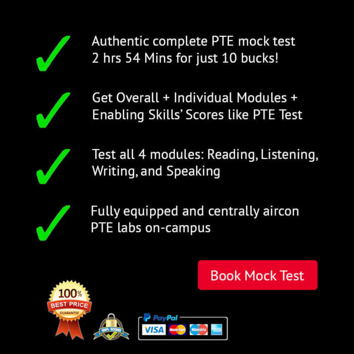 PTE Mock Test Features List. Sydney PTE Institute. Parramatta and Liverpool