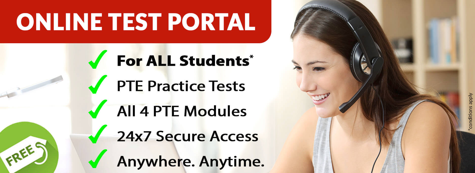 PTE Practice Test Online Portal. FREE for ALL Sydney PTE Institute Students